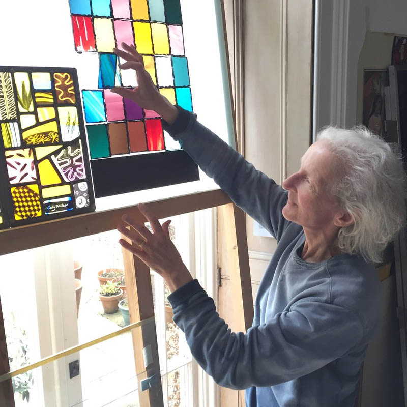 picture of stained glass artist