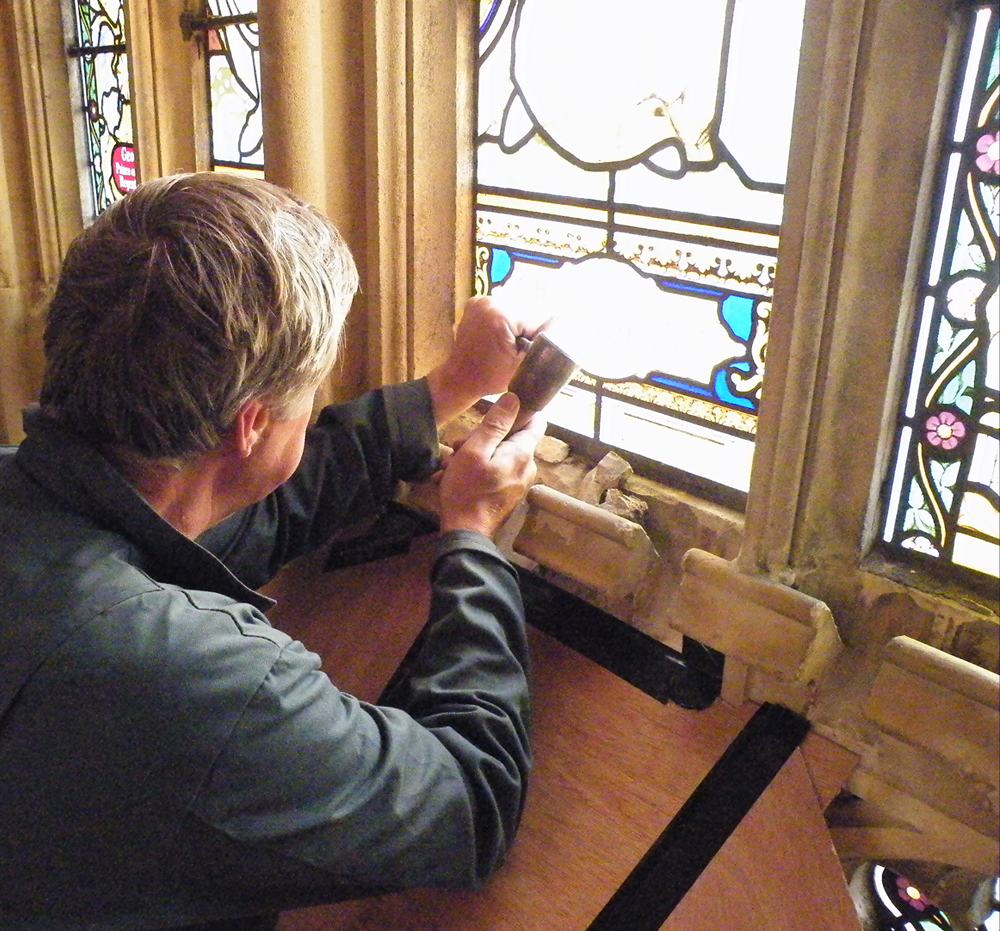 repairing stained glass