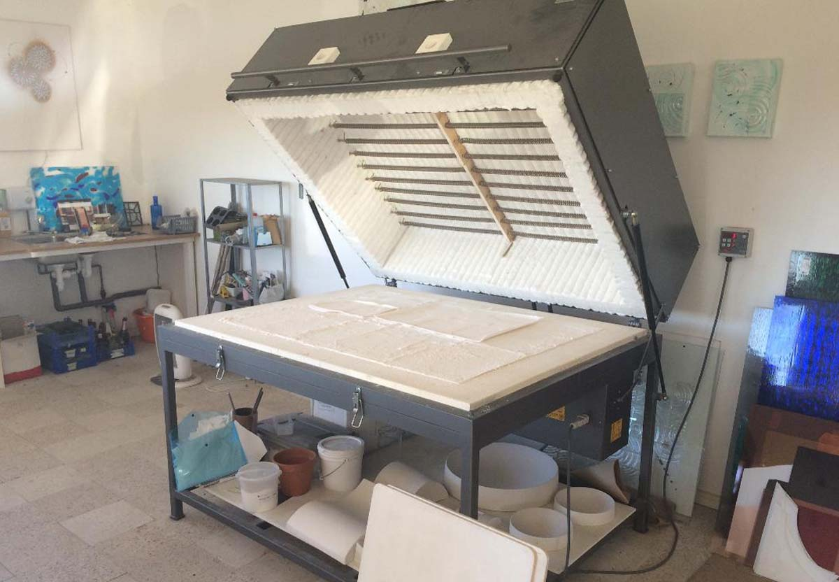 Stained glass kiln for sale - interior
