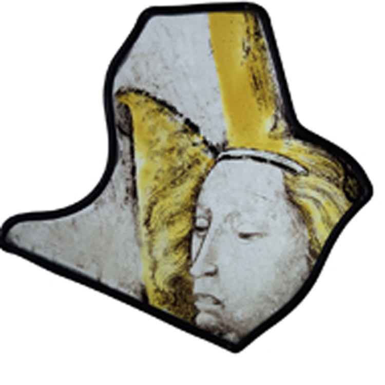 Esperlan of Delft or his workshop: Head of an angel in three-quarter profile, from the Sainte-Chapelle, France, Burgundy, Dijon, c. 1430-50, © Sam Fogg Gallery